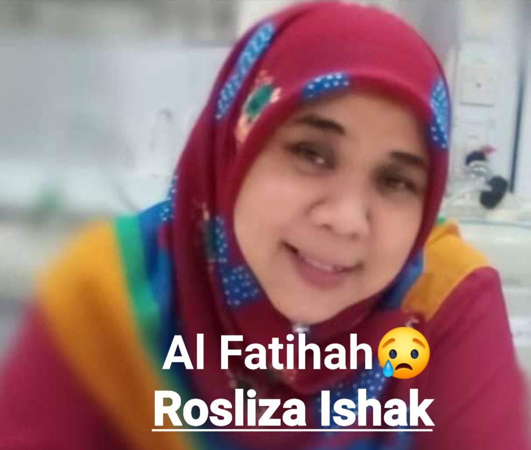 Rosliza Ishak, a round-faced woman with dark eyebrows, wearing a headscarf.