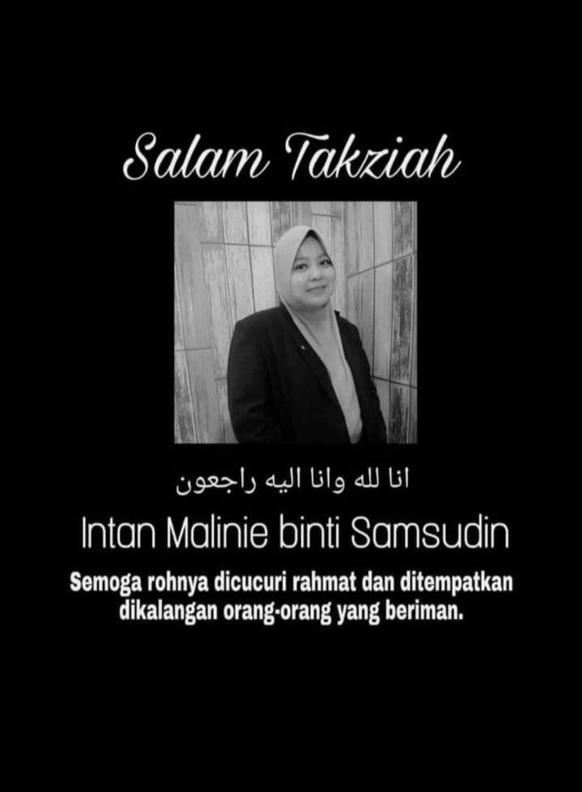 Condolences message for Intan Malinie binti Samsudin