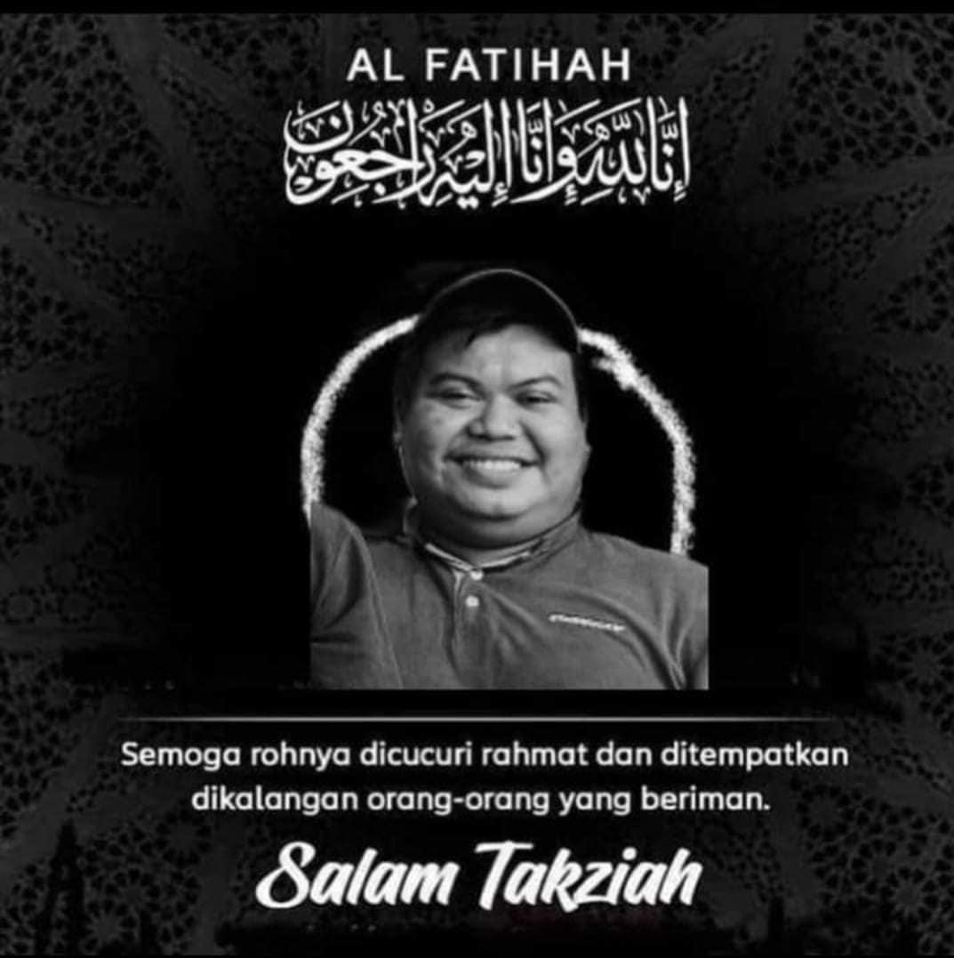 Condolence message for Farhan Radzali. He is pictured in his Starbucks uniform.