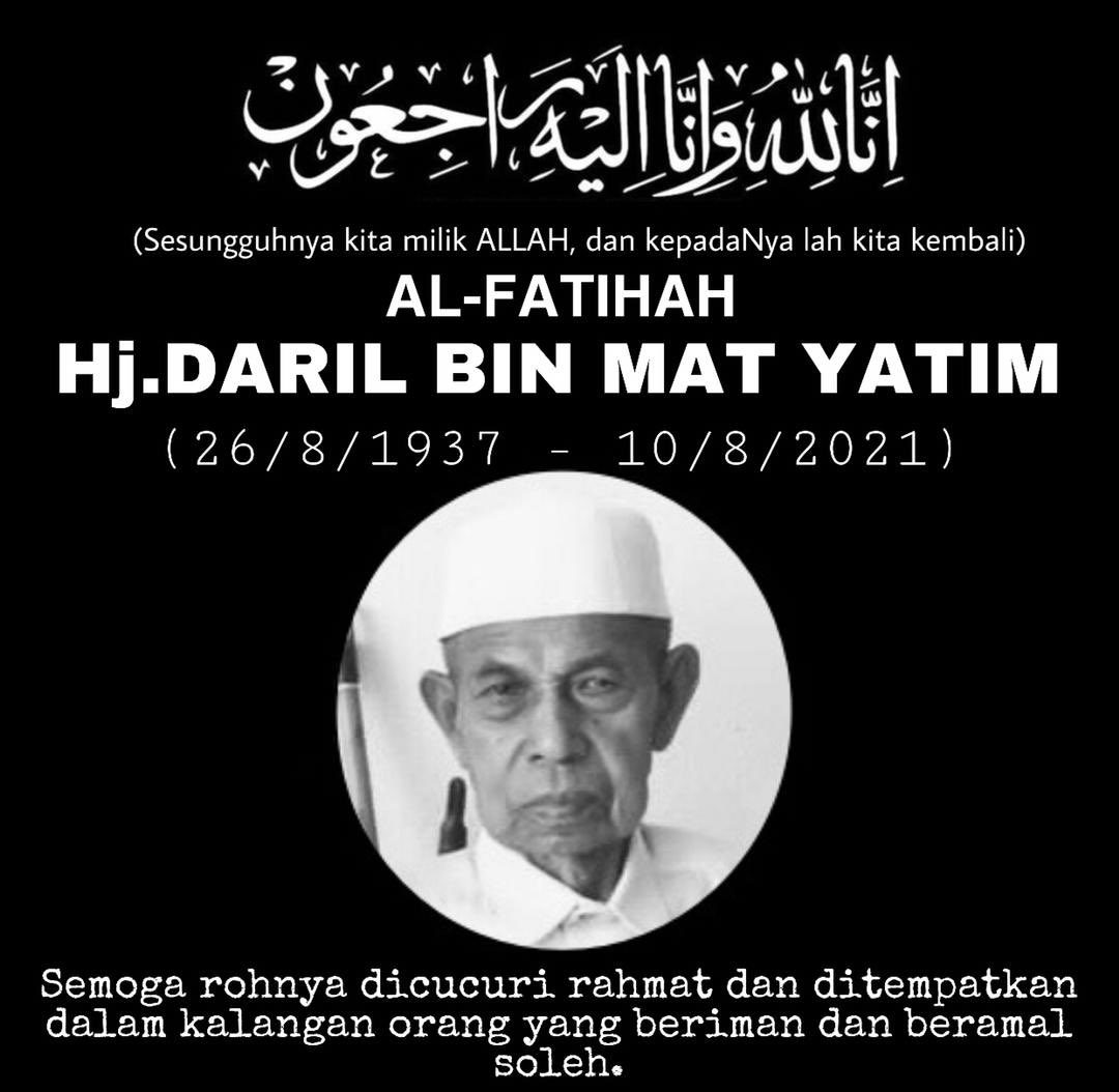 Photo of Daril Mat Yatim in an obiturary