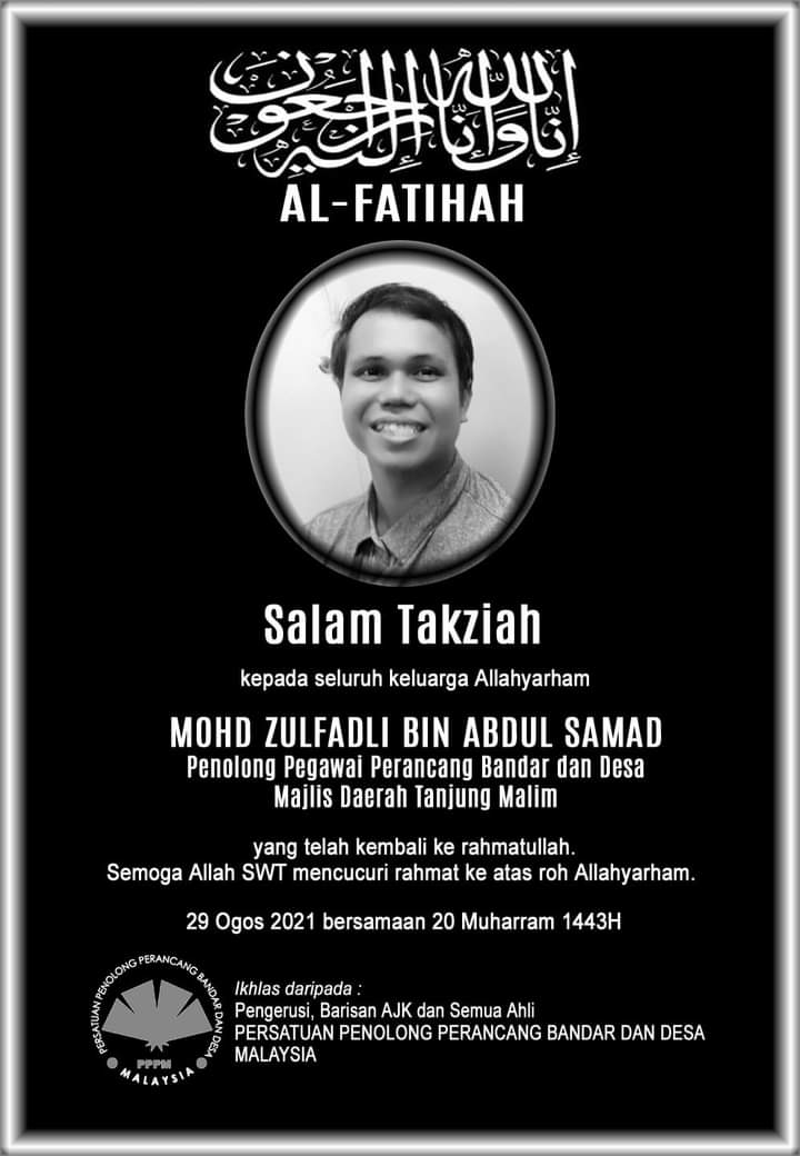An obituary of Zulfadli with a picture of him smiling from ear to ear